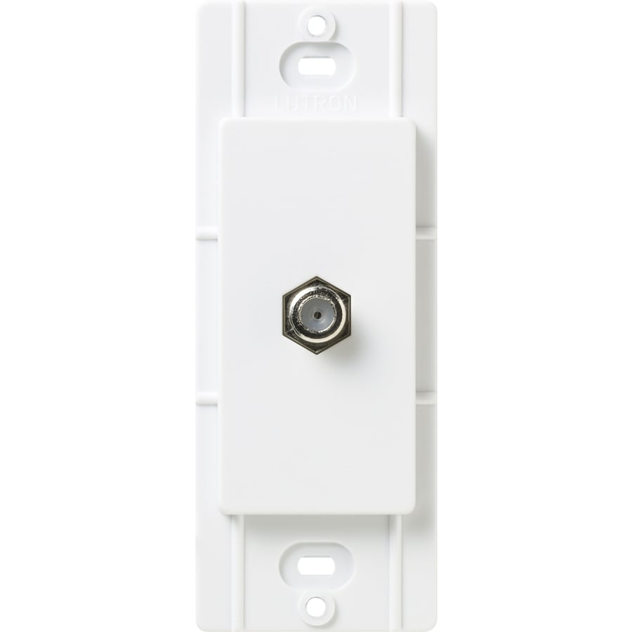 Lutron Claro Satin Color 1-Gang Snow Coaxial Wall Plate