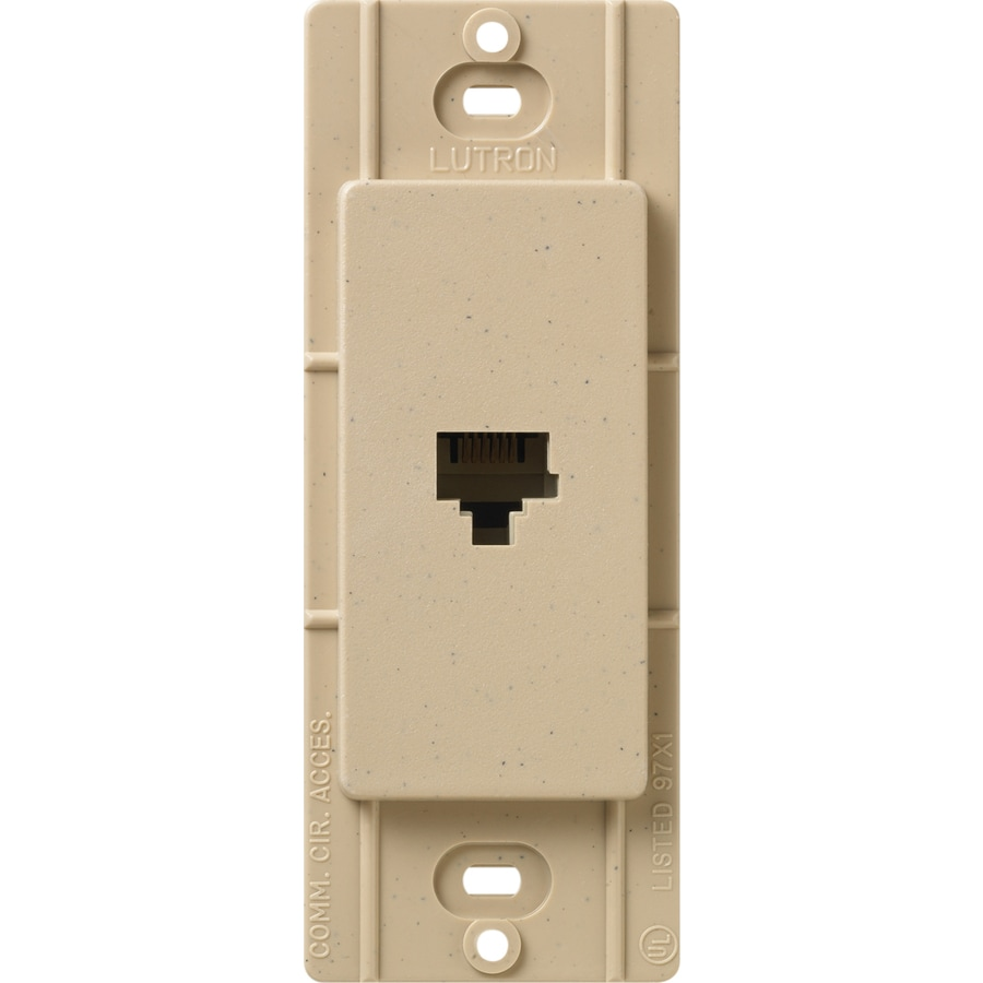 Lutron Claro Satin Color 1-Gang Desert Stone Phone Wall Plate