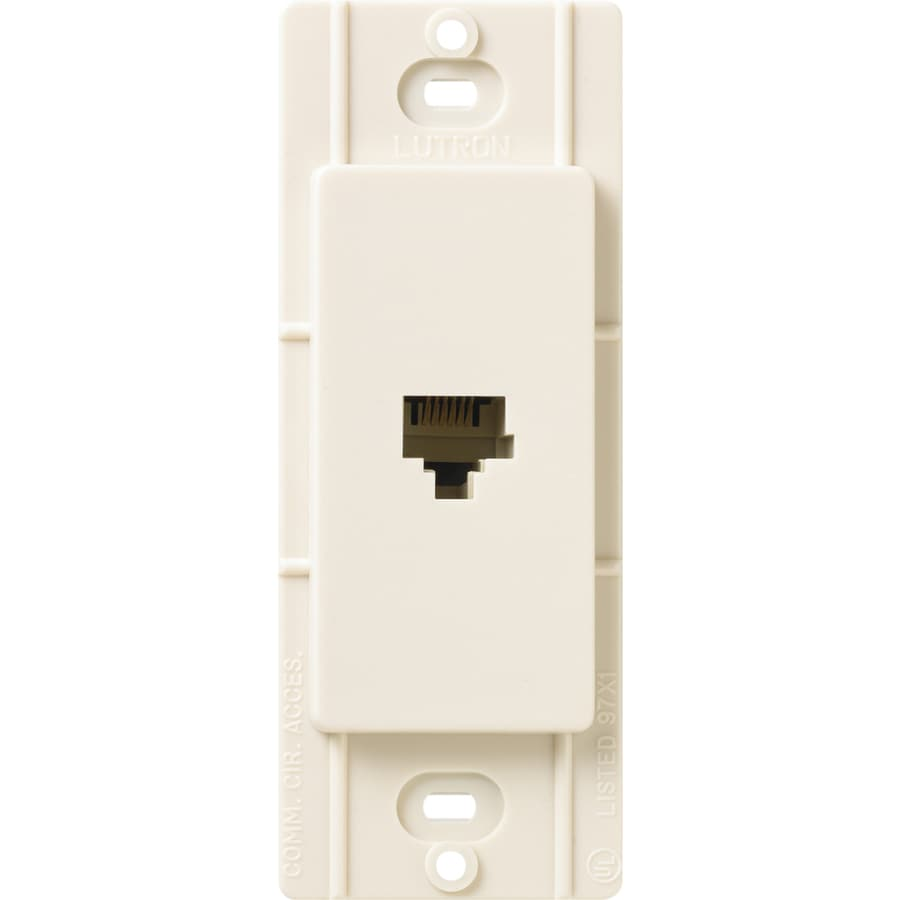 Lutron Claro Satin Color 1-Gang Eggshell Phone Wall Plate