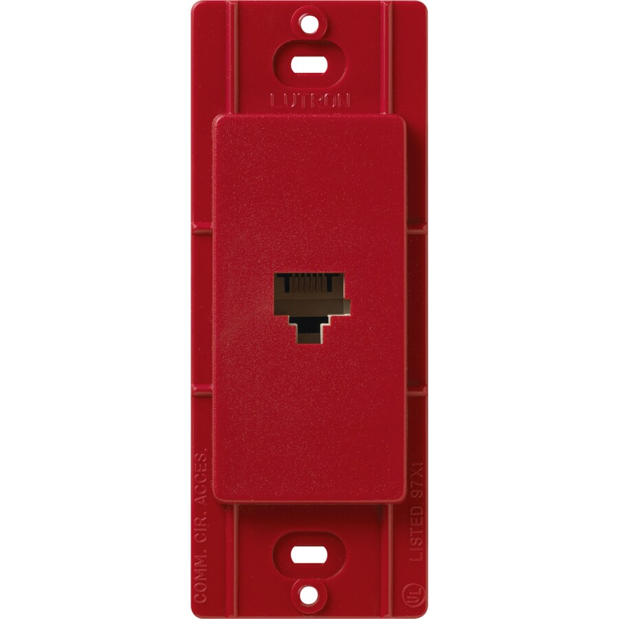 Lutron Claro Satin Color 1-Gang Hot Phone Wall Plate
