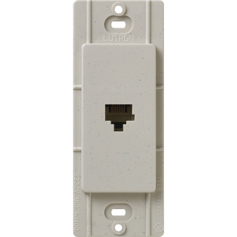 Lutron Claro Satin Color 1-Gang Stone Phone Wall Plate