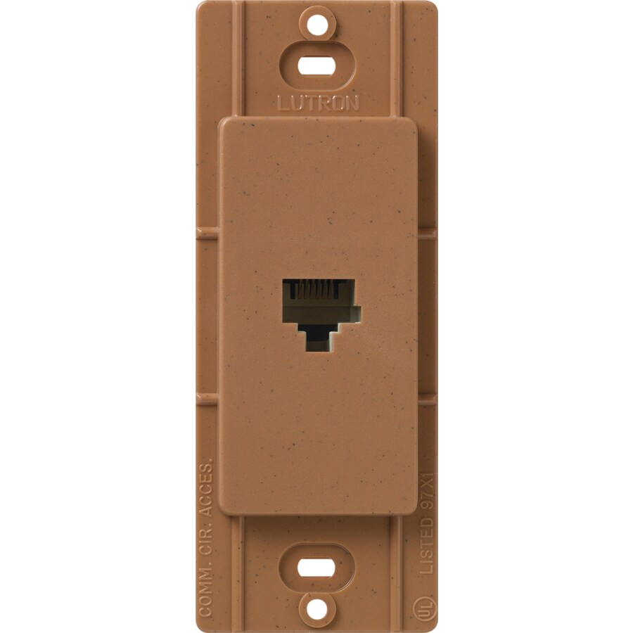 Lutron Claro Satin Color 1-Gang Terra Cotta Phone Wall Plate