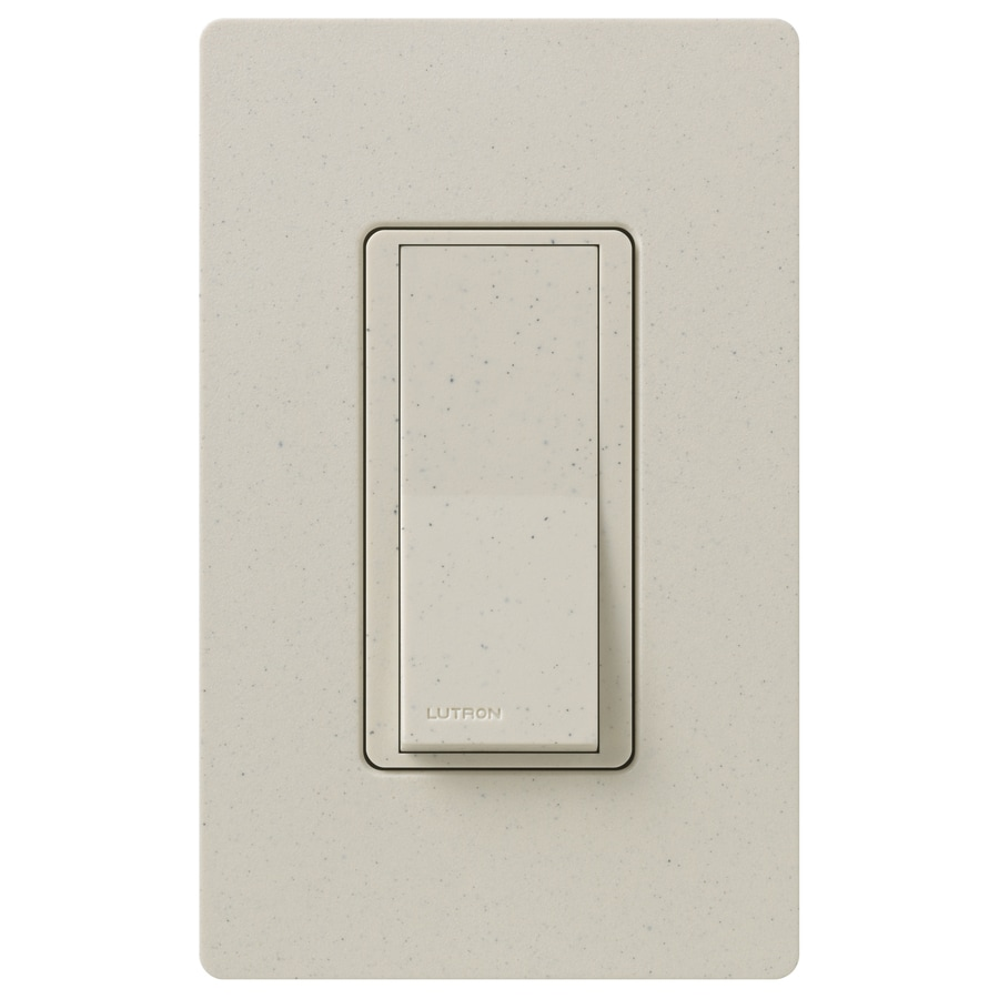 Lutron Claro 15-Amp Double Pole 3-Way Limestone Push Indoor Light Switch