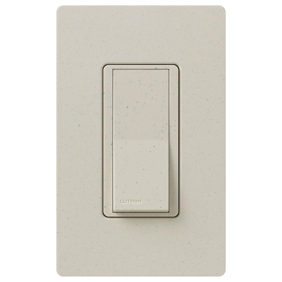Lutron Claro 15-Amp Double Pole 3-Way Limestone Indoor Push Light Switch