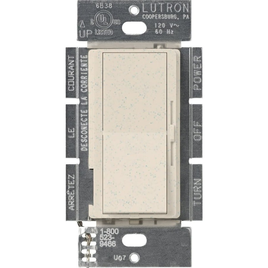 Lutron Diva 450-Watt Single Pole 3-Way Limestone Indoor Dimmer