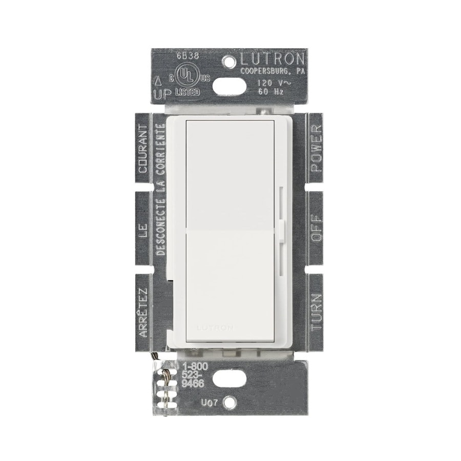 Lutron Diva 450-Watt Single Pole 3-Way Snow Indoor Dimmer