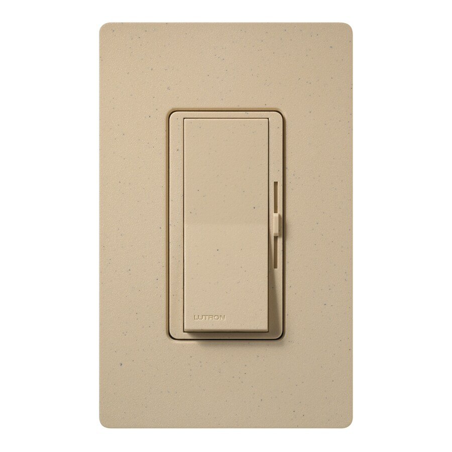 Lutron Diva 800-Watt Single Pole 3-Way Desert Stone Indoor Dimmer
