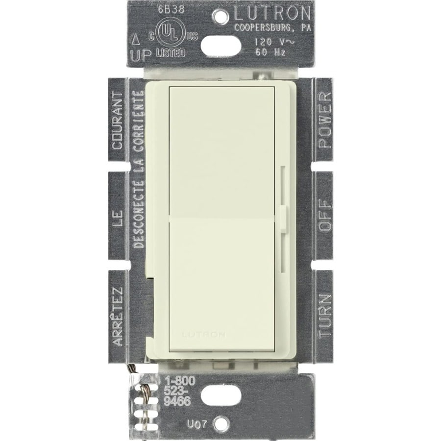 Lutron Diva 300-Watt Single Pole 3-Way Biscuit Indoor Dimmer