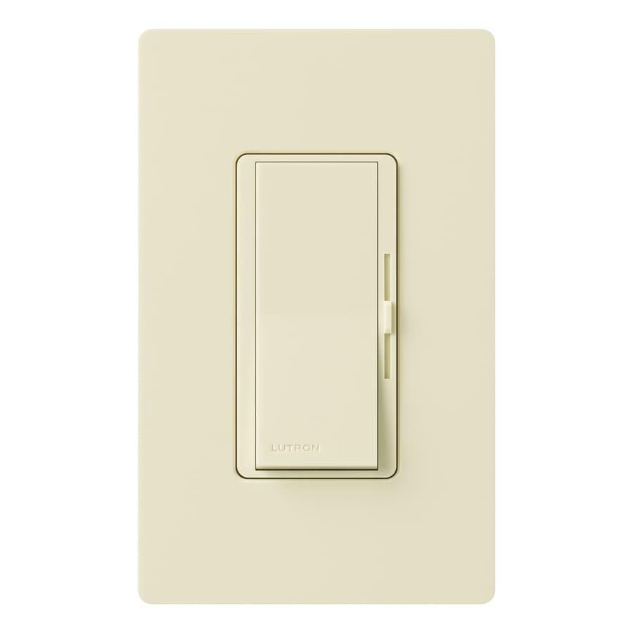Lutron Diva 600-Watt Single Pole 3-Way Almond Indoor Dimmer