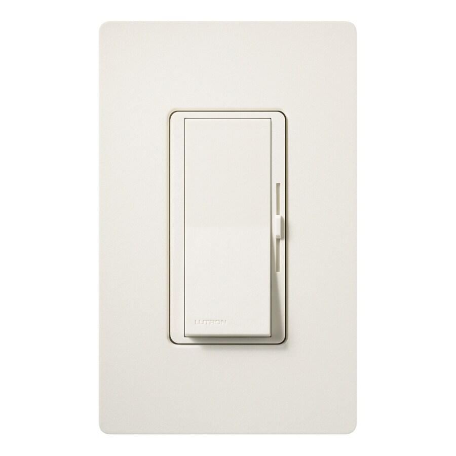 Lutron Diva 1000-Watt Single Pole 3-Way Biscuit Indoor Dimmer