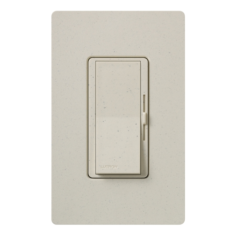 Lutron Diva 1000-watt Single Pole 3-way Limestone Indoor Dimmer