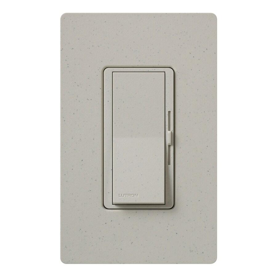 shop lutron diva 1000 watt single pole 3 way stone indoor dimmer at. Black Bedroom Furniture Sets. Home Design Ideas