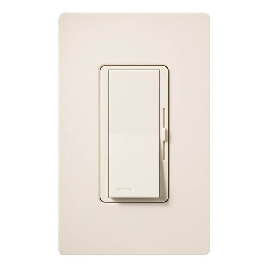 Lutron Diva 1000-Watt Single Pole Eggshell Indoor Dimmer