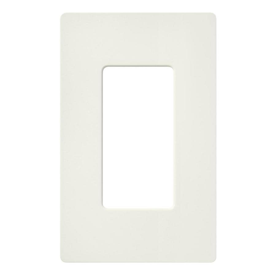 Lutron 1-Gang Biscuit Decorator Rocker Plastic Wall Plate