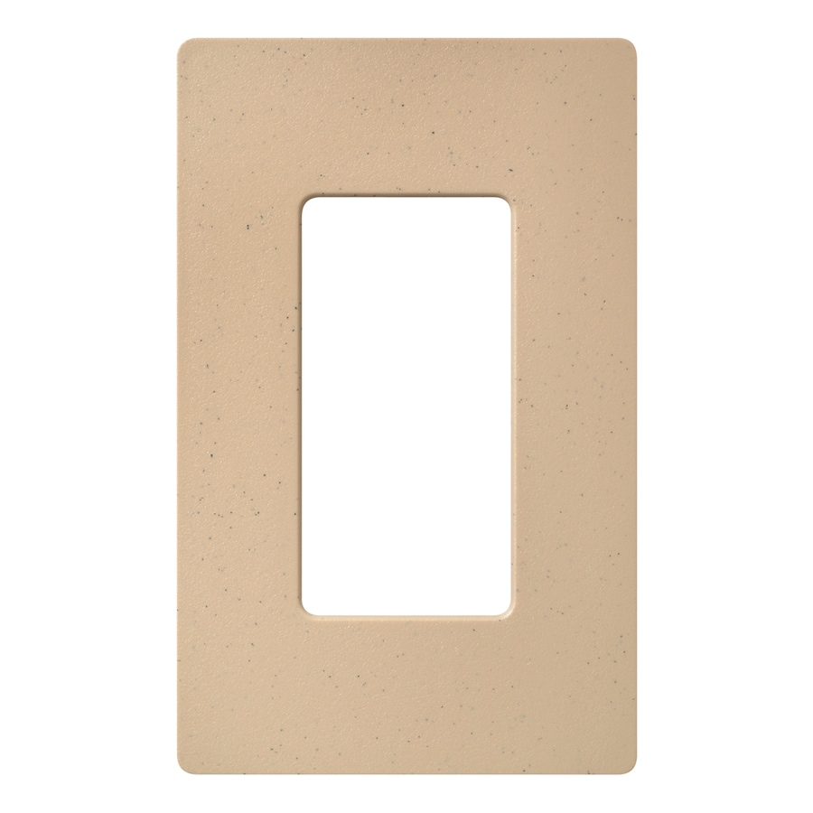 Lutron Claro 1-Gang Desert Stone Single Decorator Wall Plate