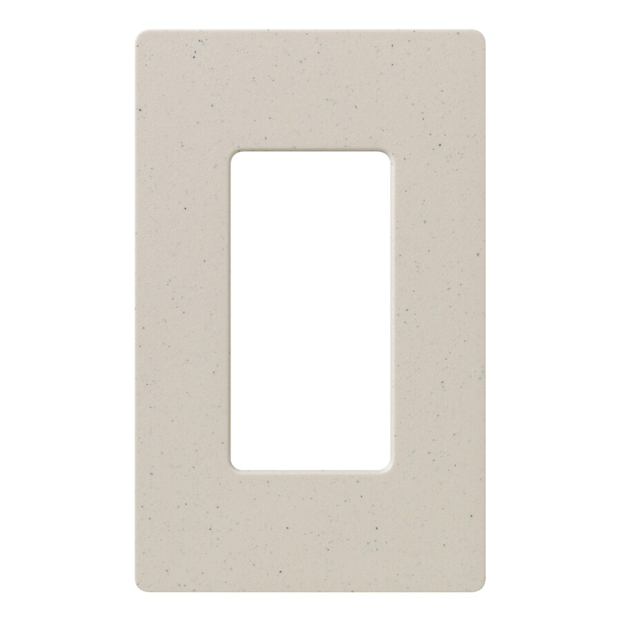 Lutron Claro 1-Gang Limestone Single Decorator Wall Plate