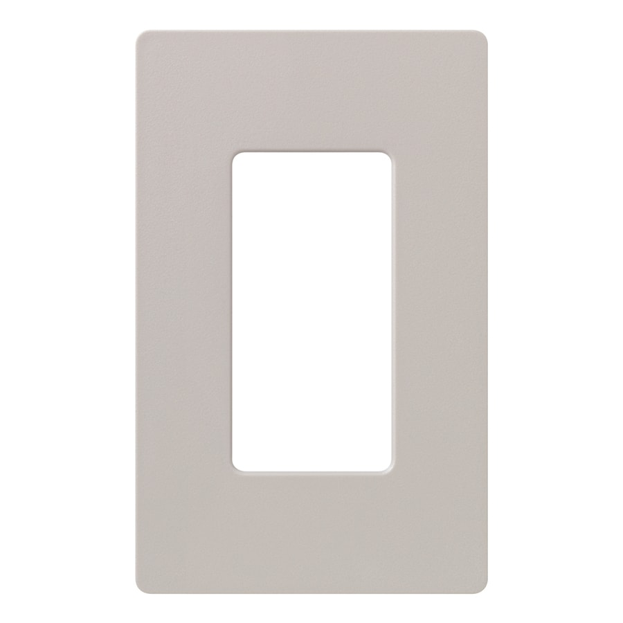 Shop lutron claro 1 gang taupe single decorator wall plate at - Gang grijze taupe ...