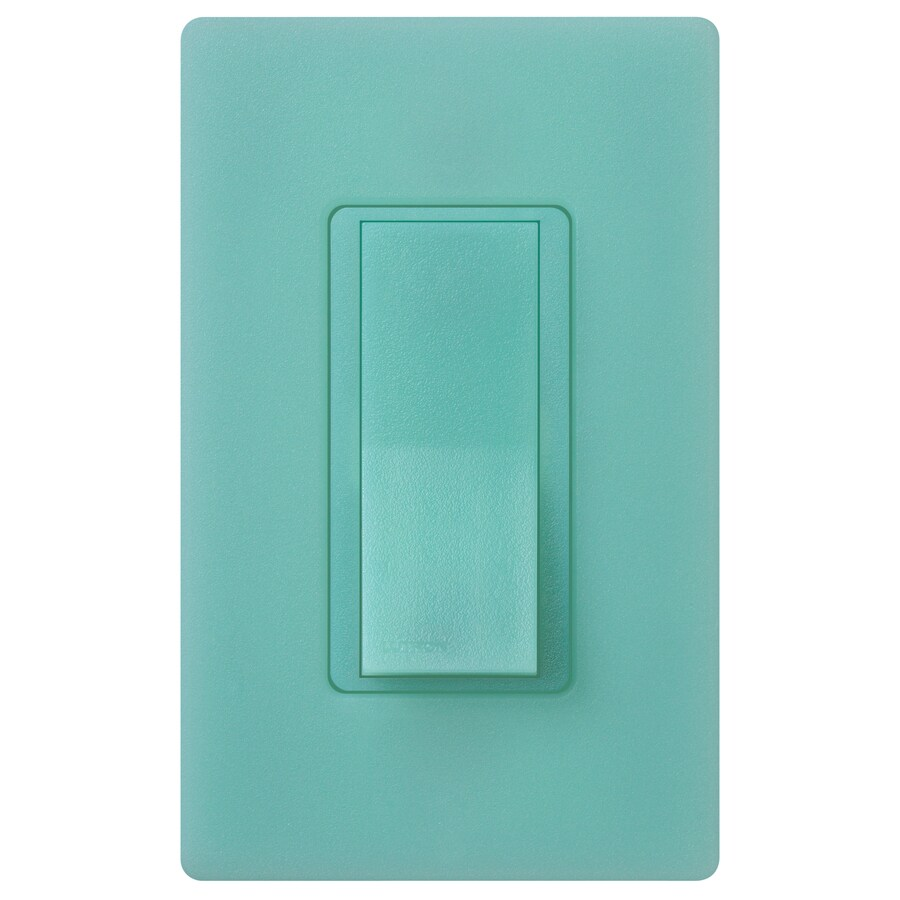 Lutron Claro 15-amp Single Pole Sea Glass Push Indoor Light Switch