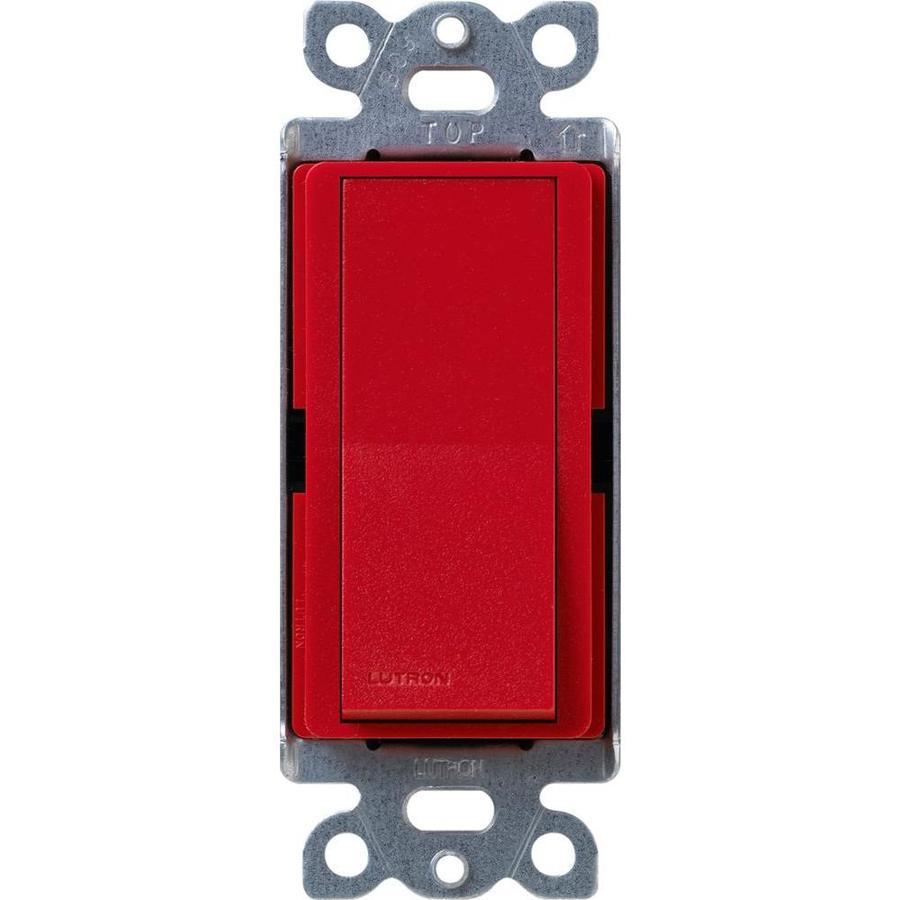 Lutron Claro 15-Amp Single Pole Hot Indoor Push Light Switch