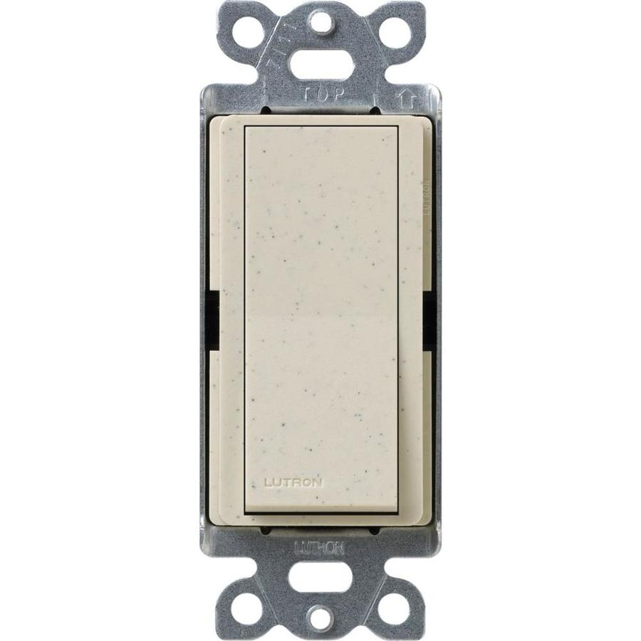 Lutron Claro 15-Amp Single Pole Limestone Indoor Push Light Switch