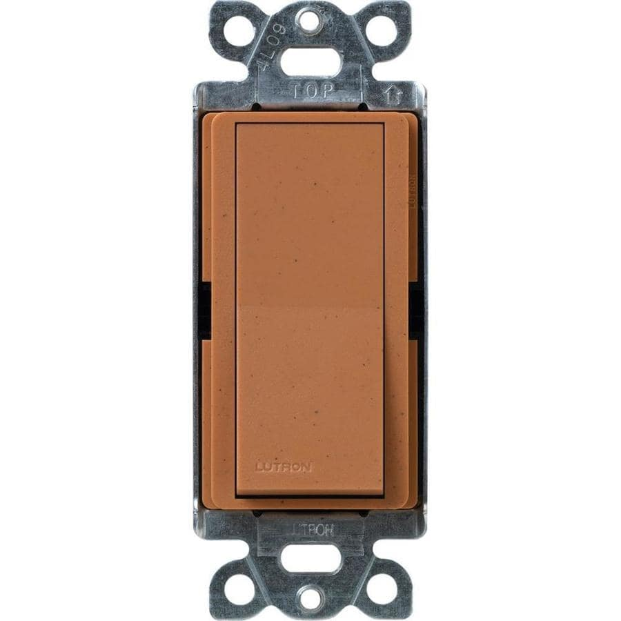 Lutron Claro 15-Amp Single Pole Terracotta Indoor Push Light Switch