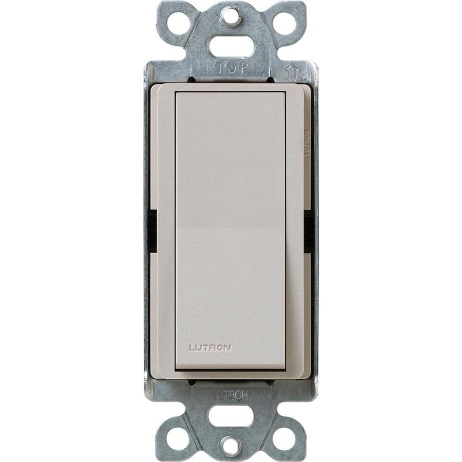 Lutron Claro 15-Amp Single Pole Taupe Indoor Push Light Switch