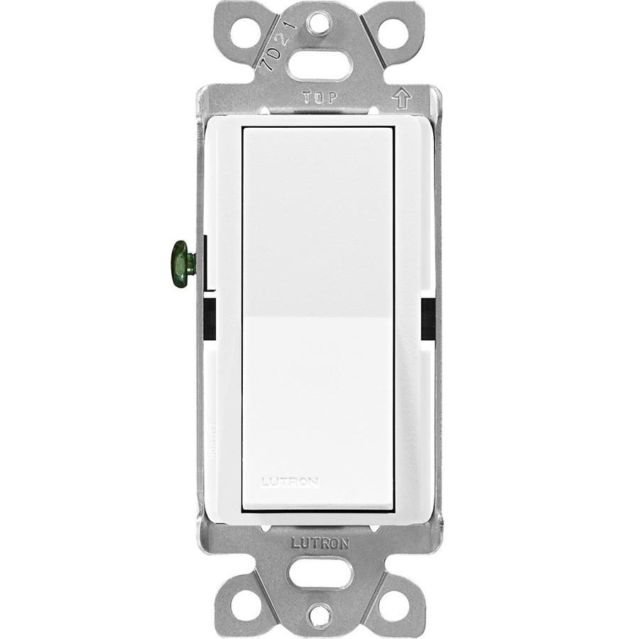 Lutron Claro 15-Amp Single Pole Snow Push Indoor Light Switch