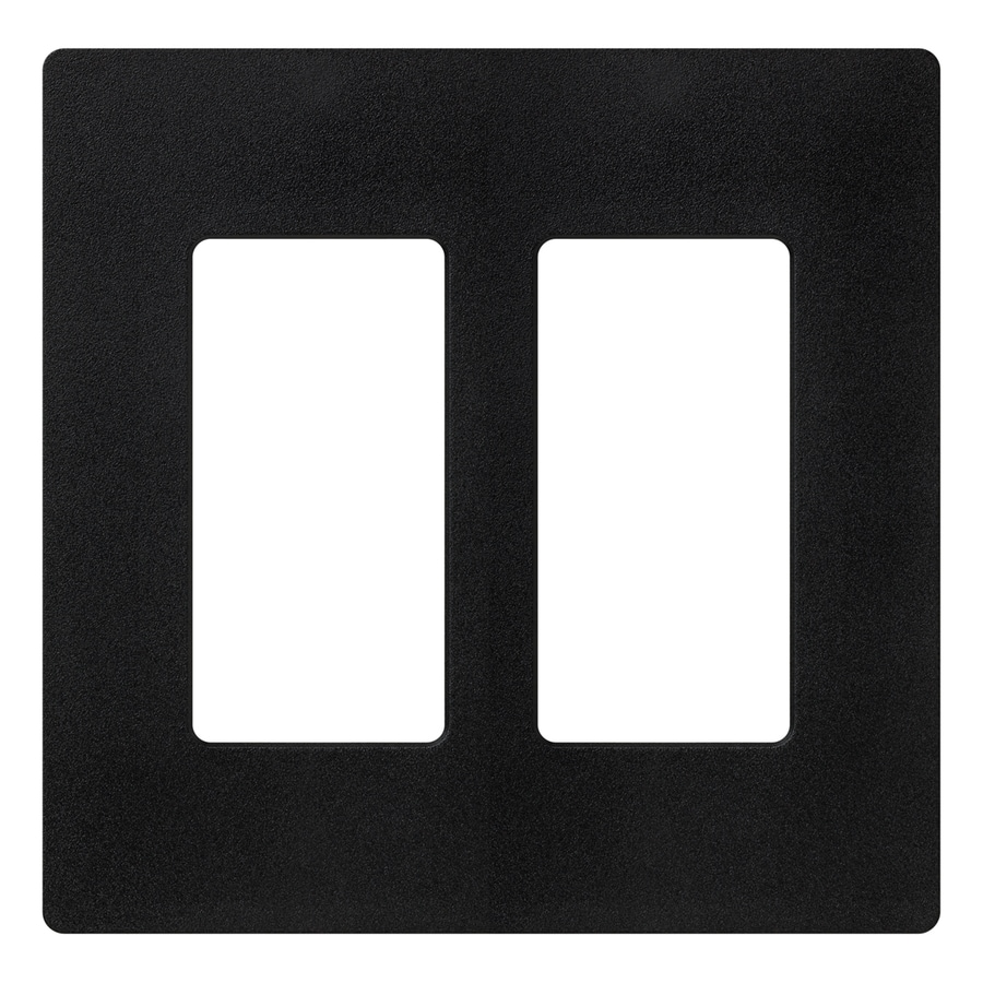 Lutron Claro 2-Gang Midnight Double Decorator Wall Plate