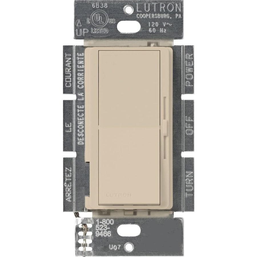 Lutron Diva 300-Watt Single Pole 3-Way Taupe Indoor Dimmer
