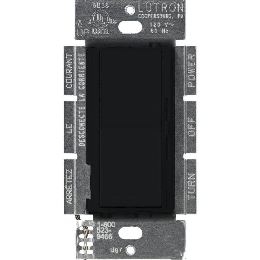 Lutron Diva 450-Watt Single Pole Midnight Indoor Dimmer