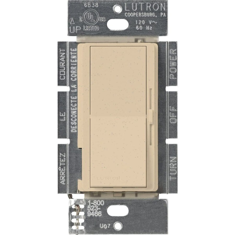 Lutron Diva 450-Watt Single Pole Desert Stone Indoor Dimmer