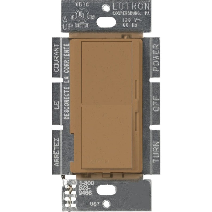 Lutron Diva 450-Watt Single Pole Terracotta Indoor Dimmer