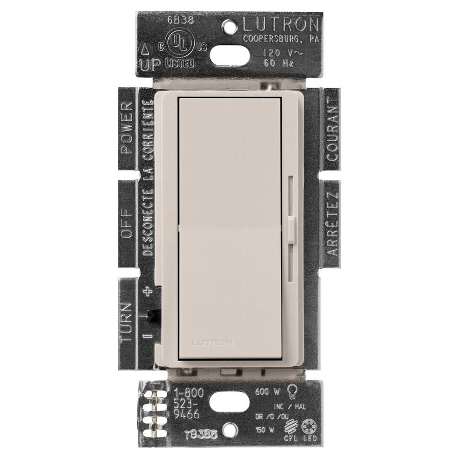 Lutron Diva 450-Watt Single Pole Taupe Indoor Dimmer