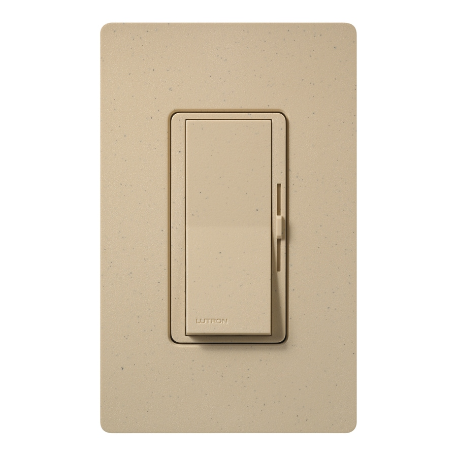 Lutron Diva 800-Watt Single Pole Desert Stone Indoor Dimmer