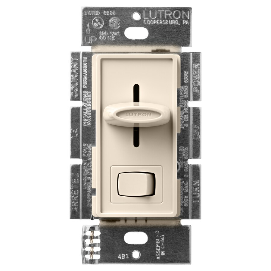 Lutron Skylark 600-Watt Single Pole 3-Way Light Almond Indoor Dimmer