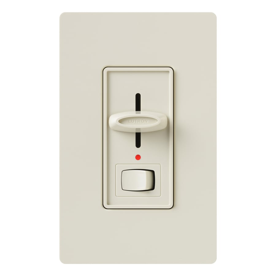 Shop Lutron Skylark 1000 Watt Single Pole 3 Way Light Almond Indoor Dimmer At