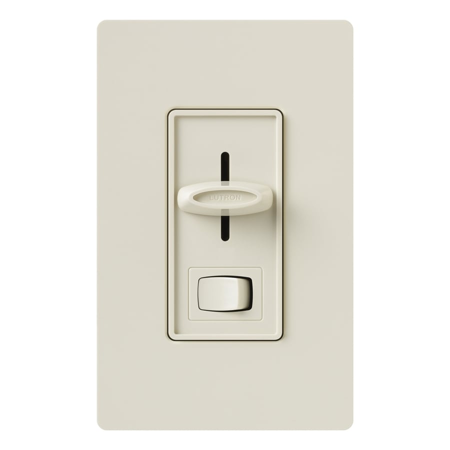 Lutron Skylark 300-Watt Single Pole Light Almond Indoor Dimmer