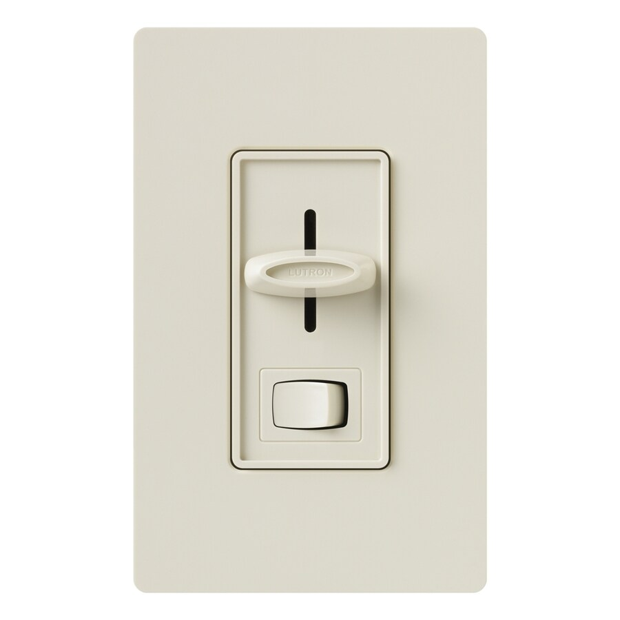 Lutron Skylark 300-Watt Single Pole 3-Way Light Almond Indoor Dimmer