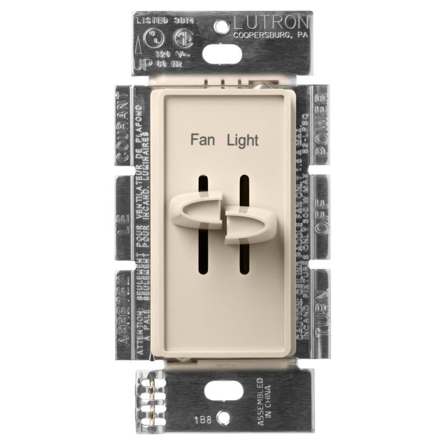 Lutron Skylark 3-Speed 1.5-Amp Light Almond Indoor Slide Fan Control