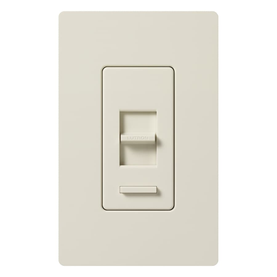 shop lutron lumea 3 speed 5 amp light almond indoor slide fan control. Black Bedroom Furniture Sets. Home Design Ideas