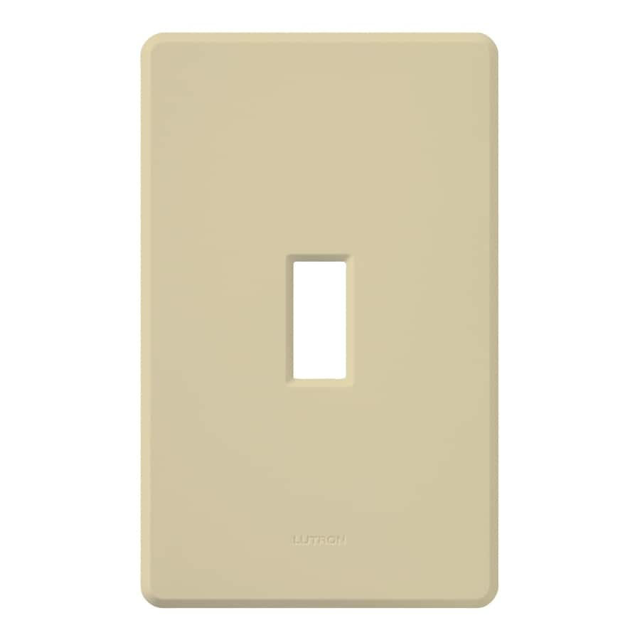 Lutron Fassada 1 Gang Ivory Single Standard Wall Plate At
