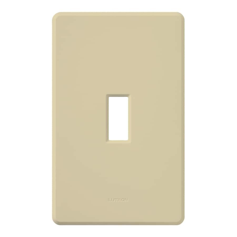 Lutron Fassada 1-Gang Ivory Single Toggle Wall Plate