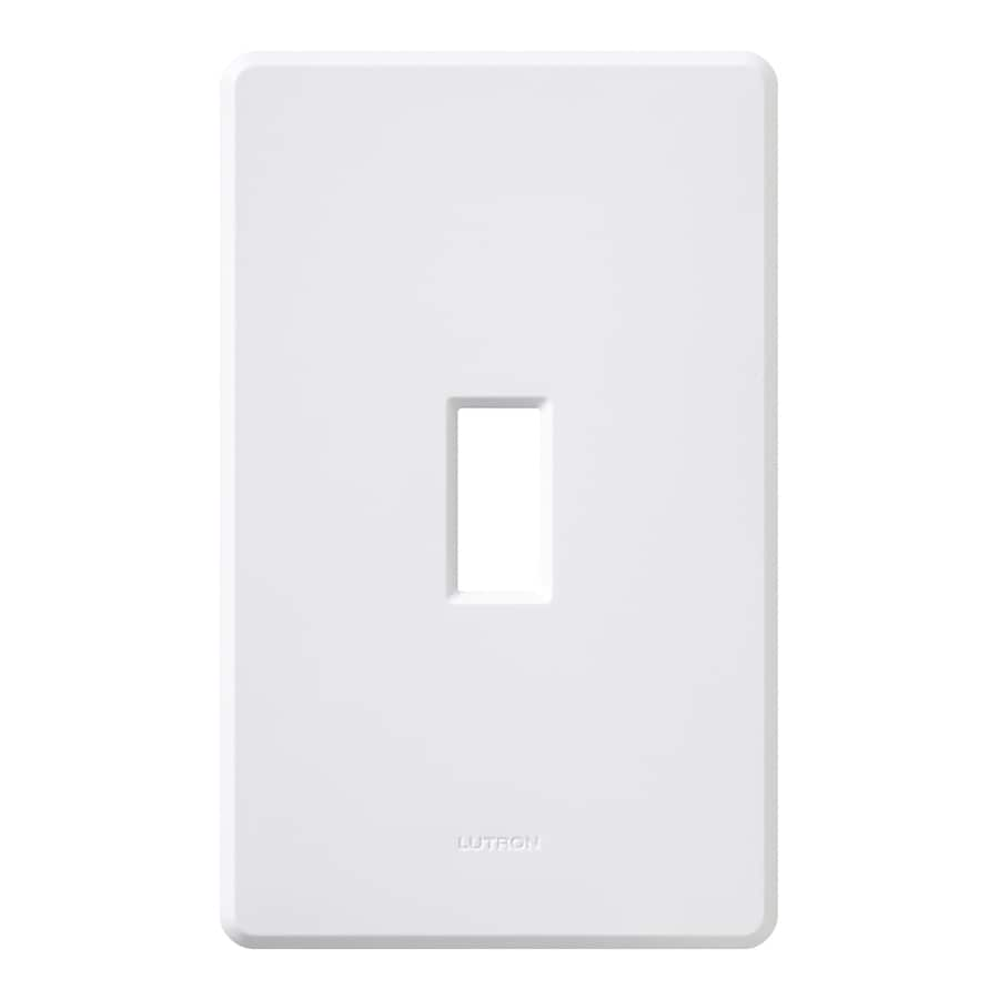 Lutron Fassada 1-Gang White Single Toggle Wall Plate