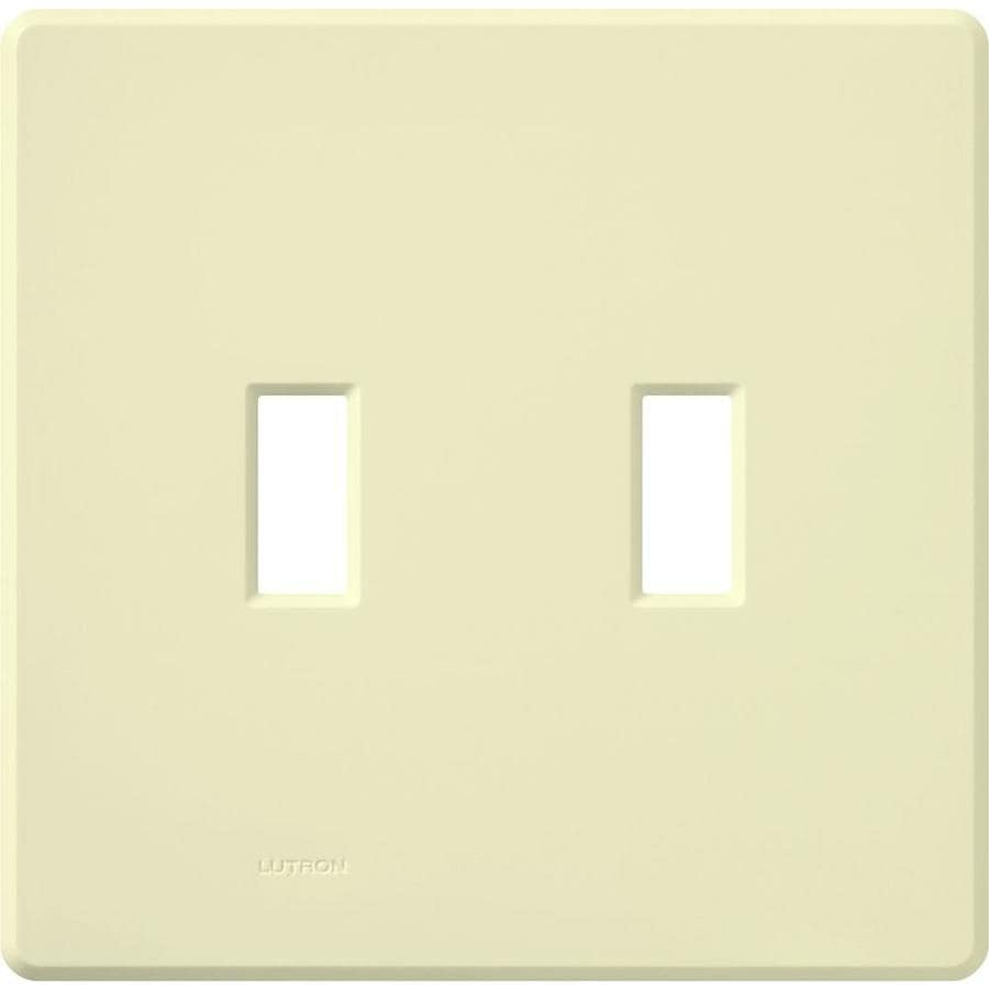 Lutron Fassada 2-Gang Almond Double Toggle Wall Plate