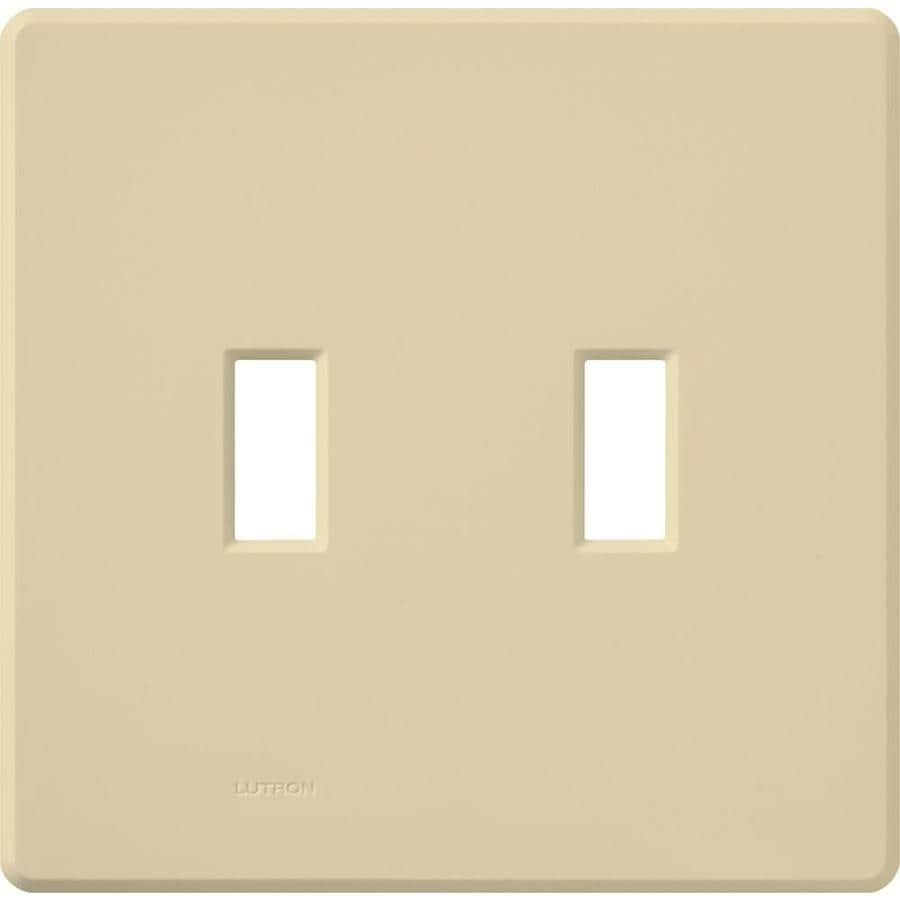 Lutron Fassada 2-Gang Ivory Double Toggle Wall Plate