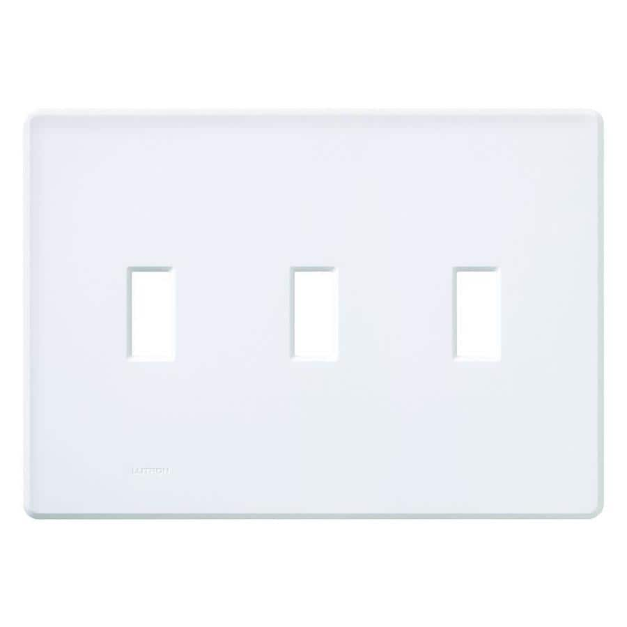 Lutron Fassada 3-Gang White Triple Toggle Wall Plate