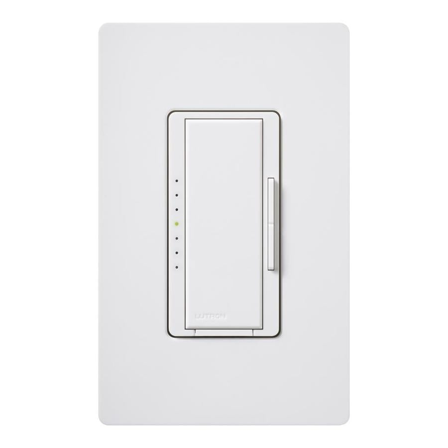 Lutron Maestro Eco-Dim 600-Watt Single Pole Gray Indoor Touch Dimmer