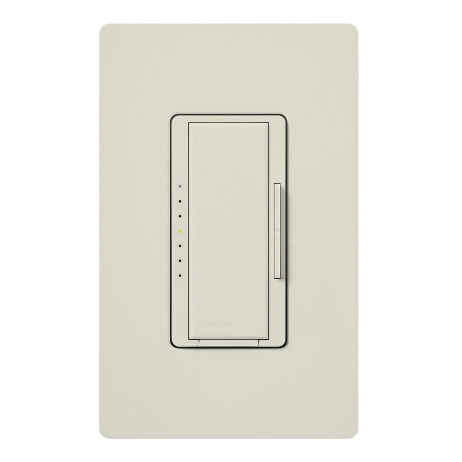 Lutron Maestro Eco-Dim 600-Watt Single Pole Light Almond Indoor Touch Dimmer