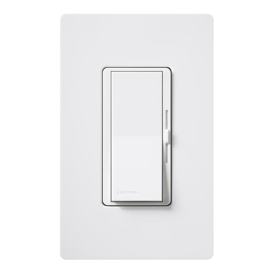 Lutron Diva 600-Watt Single Pole 3-Way White Indoor Dimmer