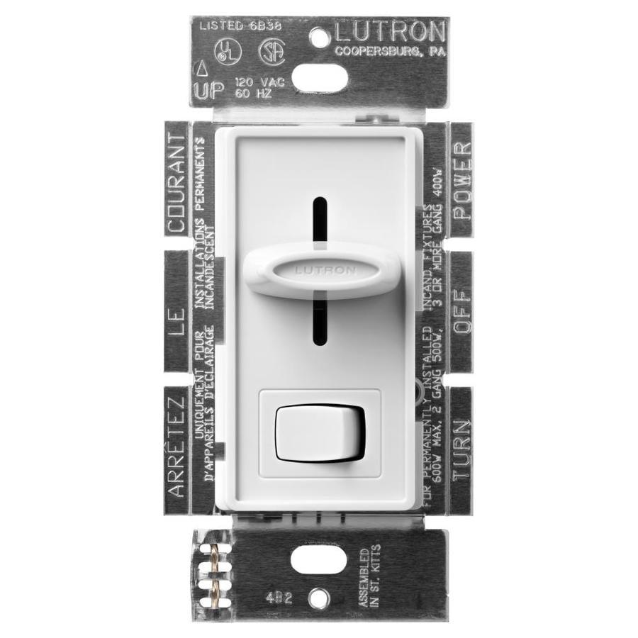 Lutron Skylark 600-Watt Single Pole 3-Way White Indoor Dimmer